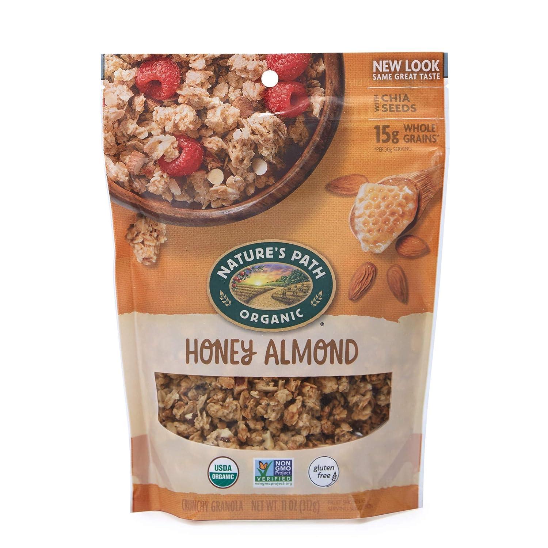 Nature's Path Organic Honey Almond Gluten Free Granola, 11 oz, Pack of 5