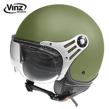 Moderno casco de moto, de Vinz, tipo jet, tallasde XS a XL,