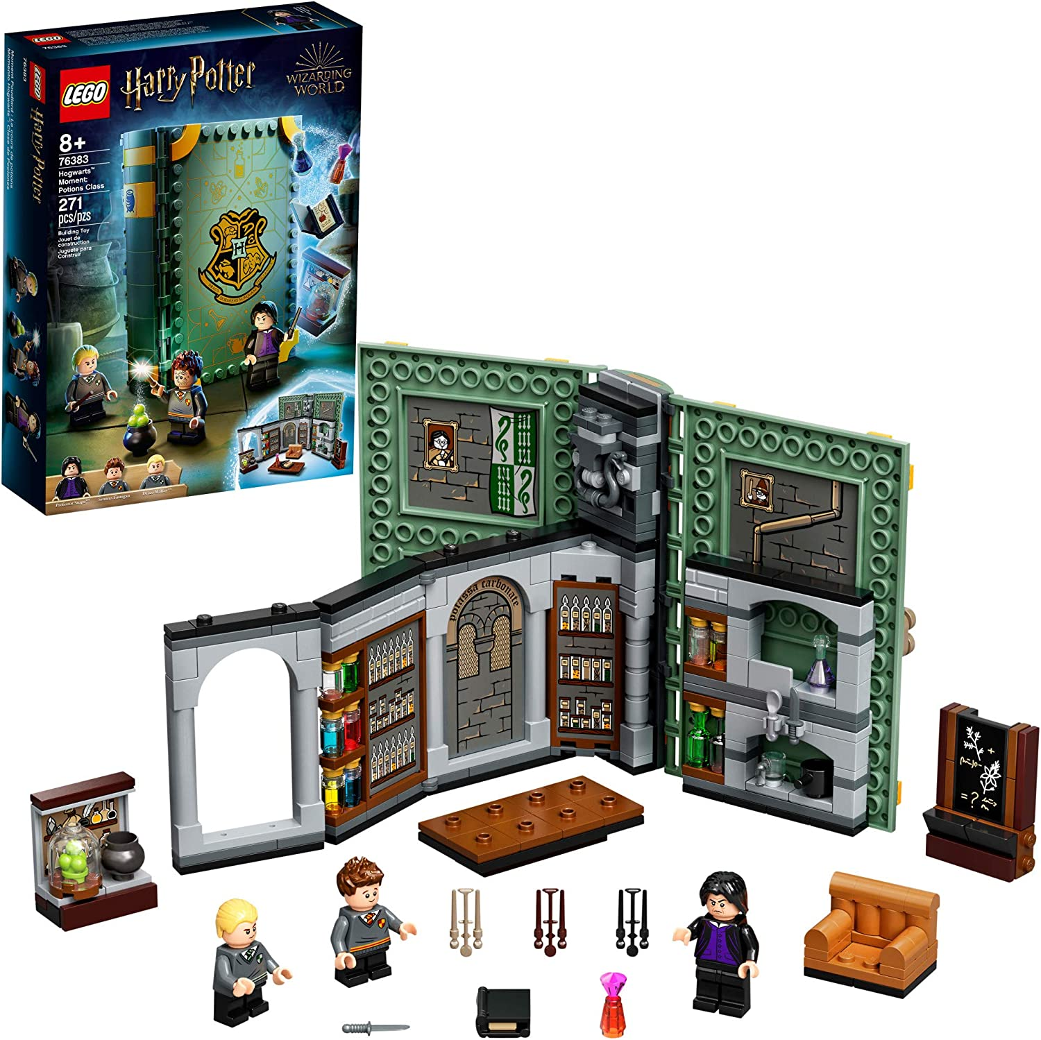 Lego Harry Potter Hogwarts Moment Potions Class 76383 Brick Built Playset With Professor Snape S Potions Class New 2021 270 Pieces Toys Games