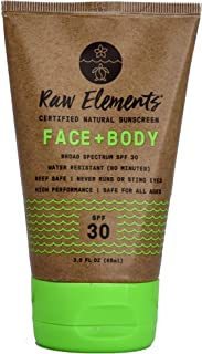product image for Raw Elements Organic SPF 30 Zinc Sunscreen, 3oz
