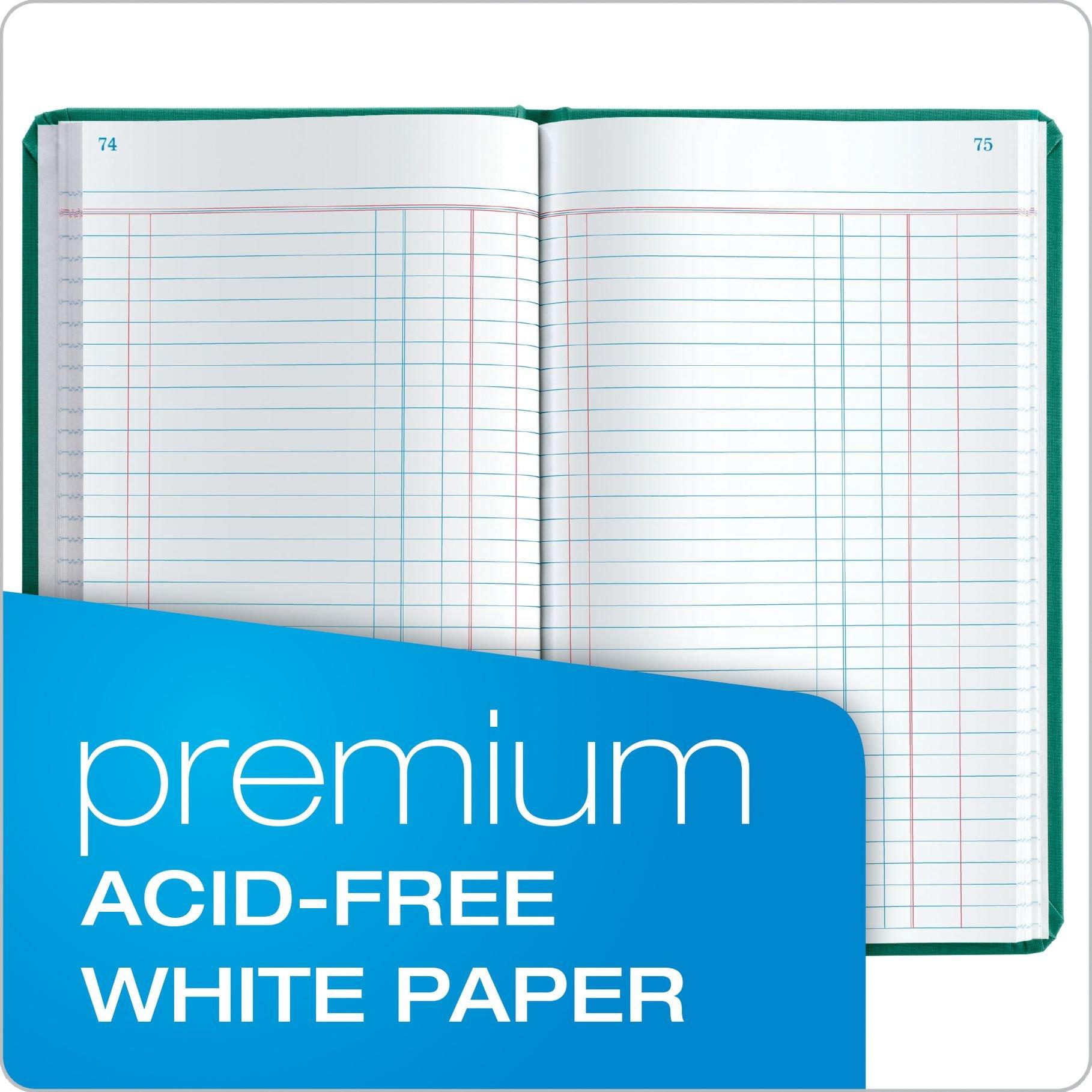 Boorum & Pease 66 Series Account Book, Journal Ruled, Green, 500 Pages, 12-1/8'' x 7-5/8'' (66-500-J) by Boorum & Pease (Image #5)