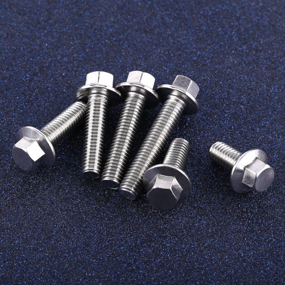 10pcs M8 Tornillos Pernos Sujetadores de Reborde de Acero Inoxidable 304 Hexagonal M8*16