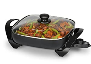 "Toastmaster TM-11SK Skillet with Glass Lid, 11"", Black"