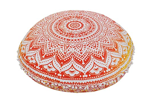 Cojines de suelo tamaño grande, Ombre Mandala manta ...