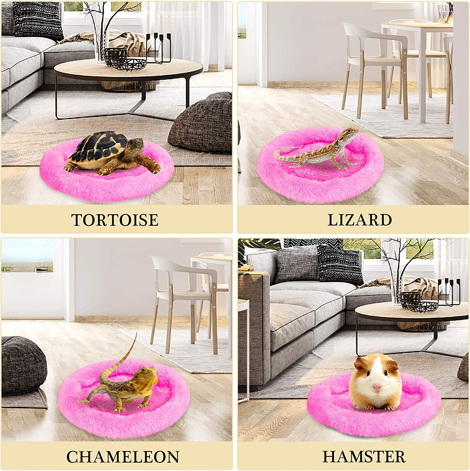 Rose Red FEBSNOW Guinea Pig Beds Hamster Bed Hedgehog Bed for Hamster//Hedgehog//Squirrel//Tortoise//Lizard and Other Small Animal