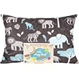 "Little Sleepy Head Toddler Pillowcase - Cuddle Collection (jungle Blue), Brown, 13"" X 18"""