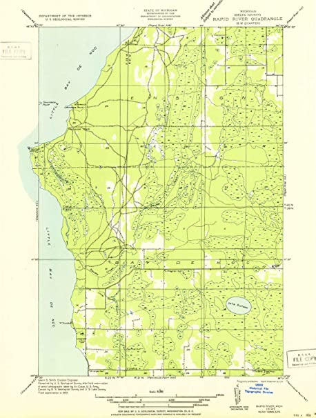 Amazon Com Yellowmaps Rapid River Sw Mi Topo Map 1 31680 Scale