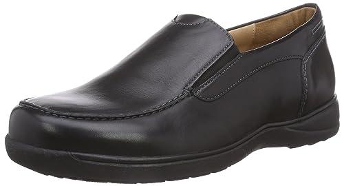 Ganter Hermes, Weite H - Zapatillas de casa de Cuero Hombre, Color Negro, Talla 47: Amazon.es: Zapatos y complementos