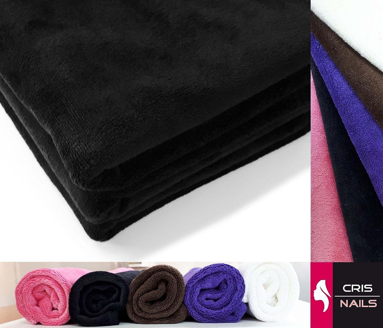 Crisnails® Toallas de Microfibra Secado Rápido para Peluquería Paquete de 3, 35cm x 75cm, Varias Colores (Pack-3, Blanco): Amazon.es: Hogar