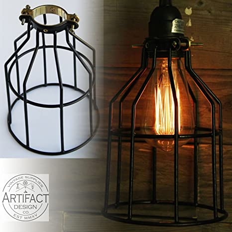 Set Of Industrial Vintage Style Top Black Light Cage For Pendant - 66 most creative and original pendant lamps ever