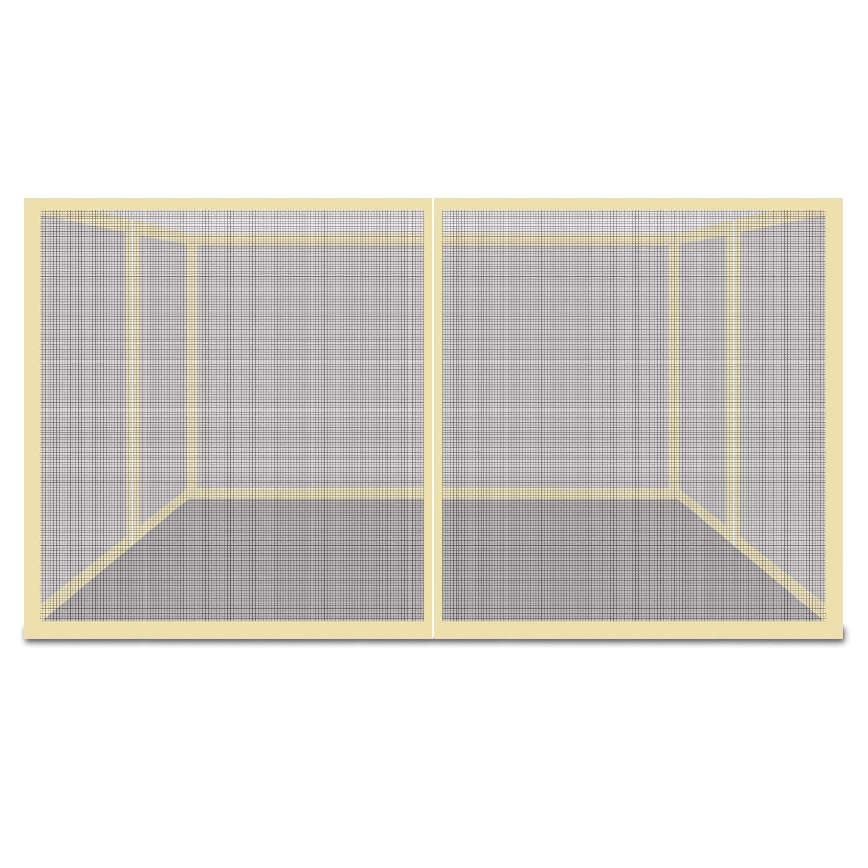 Strong Camel Mesh Canopies Screen Zippered Wall Panels Mesh Wall Sidewalls for Gazebo, Pack of 4 (Walls Only) by Strong Camel