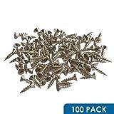 "Rok Hardware #7 x 5/8"" Flat Head Phillips Deep Thread Wood Screws Nickel Plated - Super Value 100 Pack"