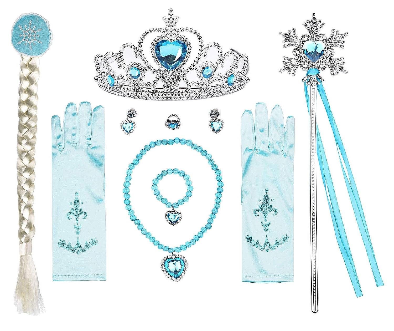 ReliBeauty Ragazze Vestito Bambine Principessa Elsa Costume Abito