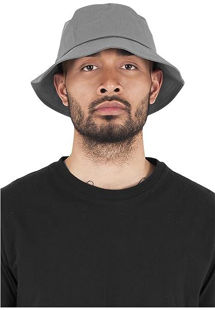 Amazon.com  Urban Classics Flexfit Cotton Twill Bucket Hat Grey one ... bd187e6b026