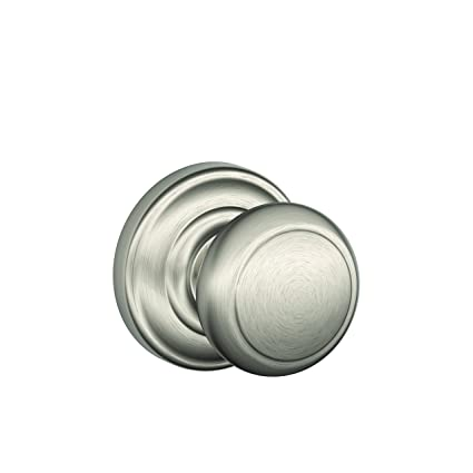 Exceptionnel Schlage Andover Passage Knob, Andover Rose, Satin Nickel