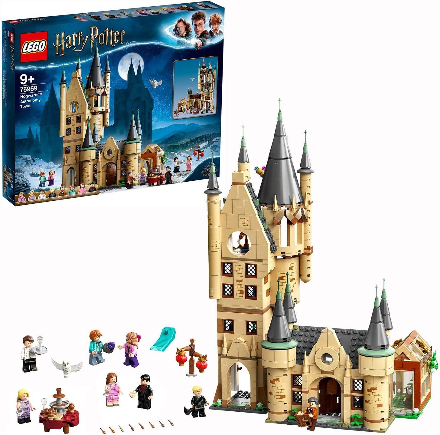 LEGO HarryPotterTorre de Astronomía Juguete Compatible conlos Sets Gran Comedor de Hogwarts y Sauce Boxeador, Multicolor (75969)