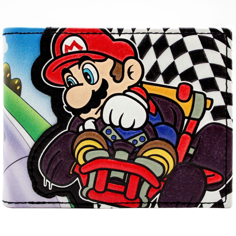 Cartera de Super Mario Kart Racing Bandera a cuadros Negro ...