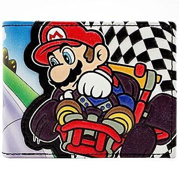 Cartera de Super Mario Kart Racing Bandera a cuadros Negro: Amazon.es: Equipaje
