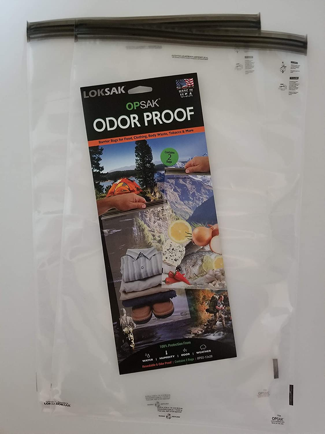 LOKSAK - OPKSAK Storage Bag, Re-Sealable and Odorless Protection from  Water, Humidity, Sand and Snow