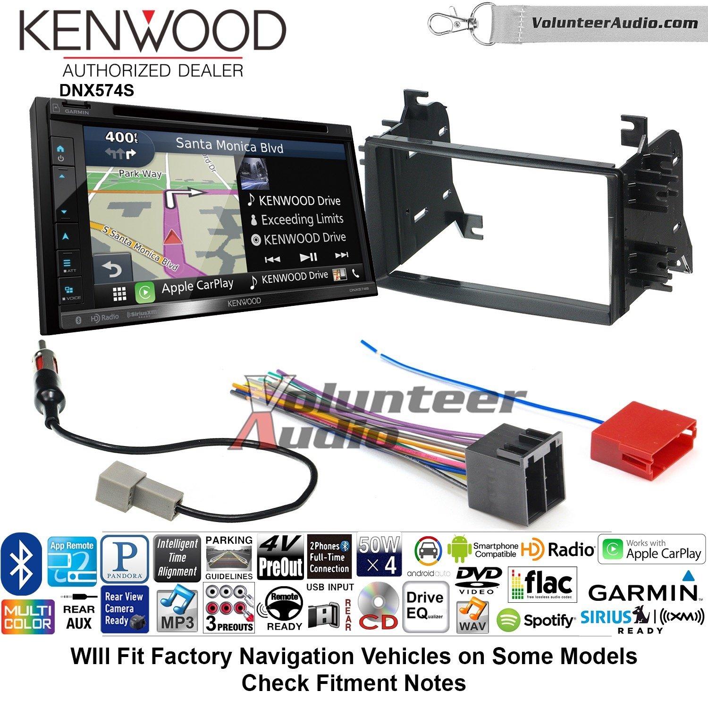 ボランティアオーディオKenwood dnx574sダブルDINラジオインストールキットwith GPSナビゲーションApple CarPlay Android自動Fits 2008 – 2014 Kiaセドナ、2009 – 2010 Kia Optima B07C214FJM