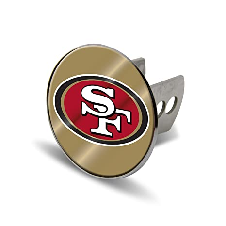 7b2eafd6 Rico NFL San Francisco 49ers Laser Cut Metal Hitch Cover, Large, Silver
