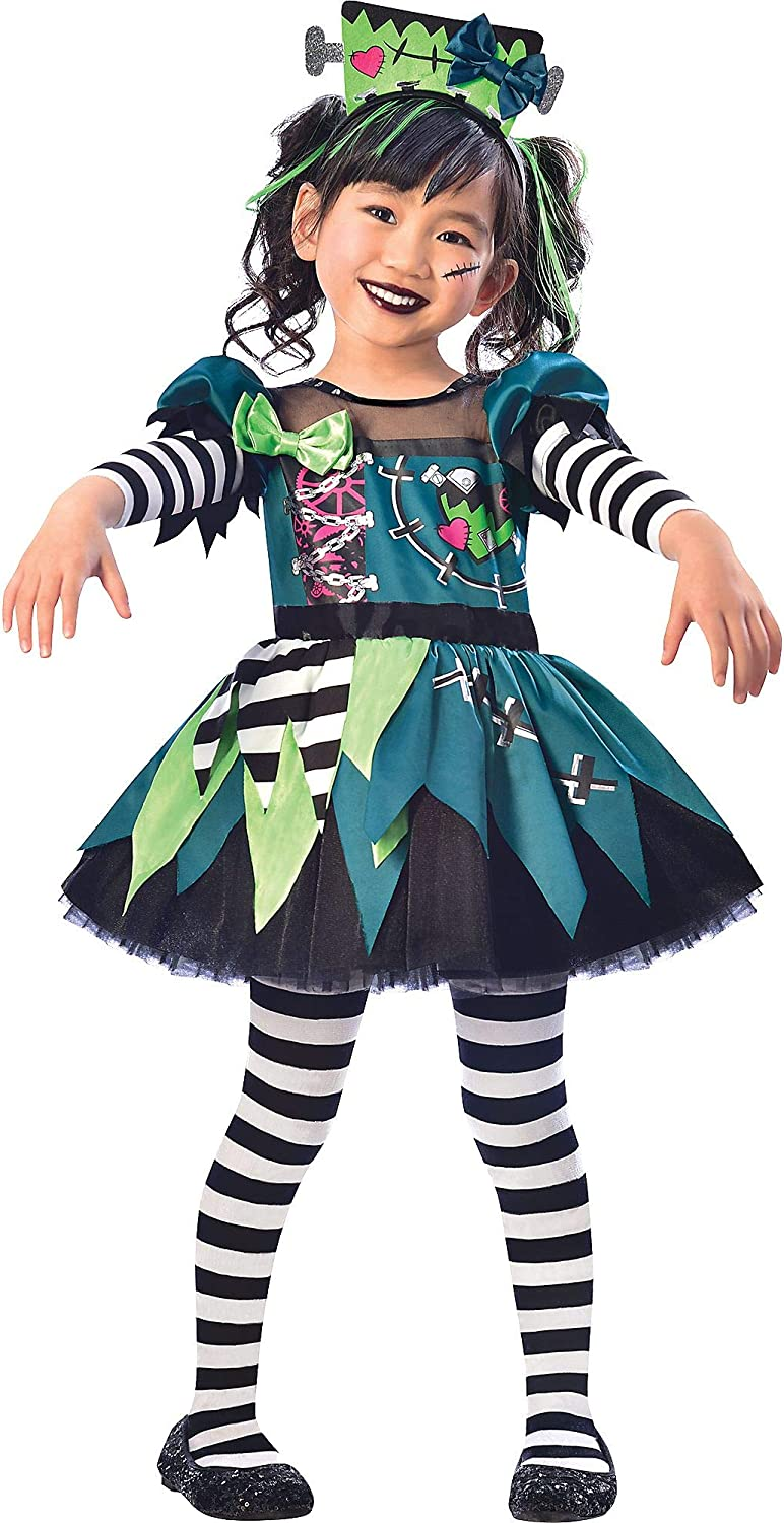 Suit Yourself Monster Miss Halloween Costume for Toddler Girls, Includes  Headband