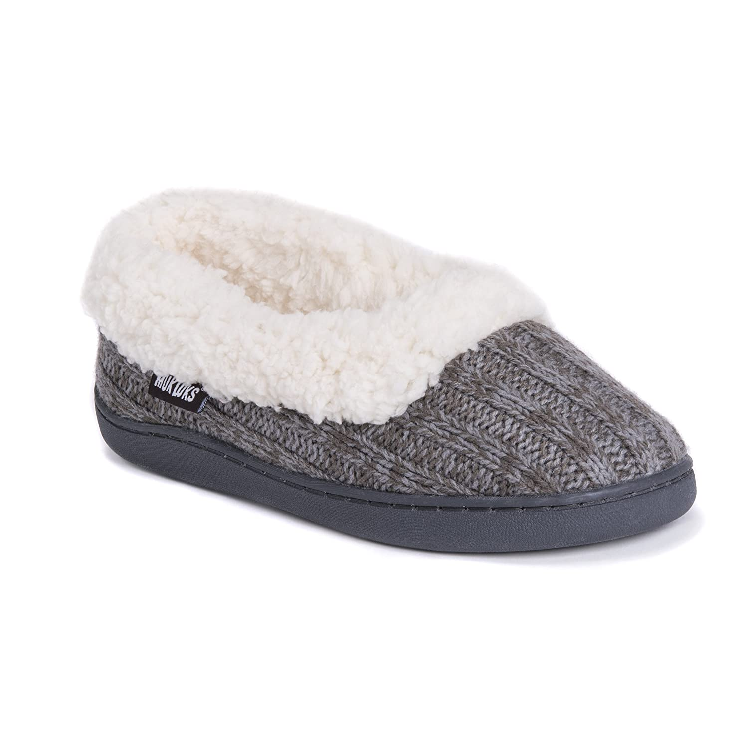 f69a4ae0bbc78 Amazon.com | MUK LUKS Women's Becky Slippers-Grey | Slippers