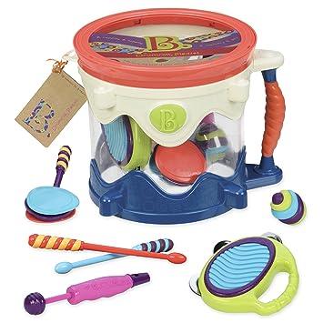 Amazon Com B Toys B Drumroll Toy Drum Set Includes 7