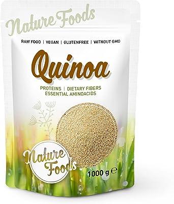 NATUREFOODS Quinoa Blanca 1kg | Mayor contenido de minerales que el arroz, | Rico en fibras y proteínas | Libre de gluten | Vegano | Sin ingeniería ...