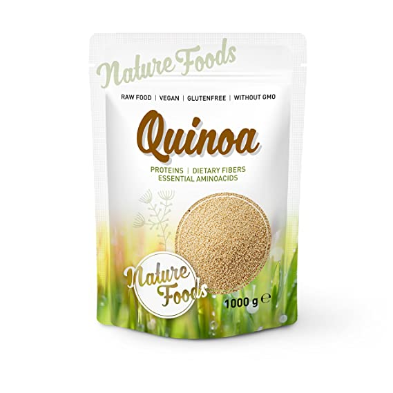NATUREFOODS Quinoa Blanca 1kg | Mayor contenido de minerales que el arroz, | Rico en