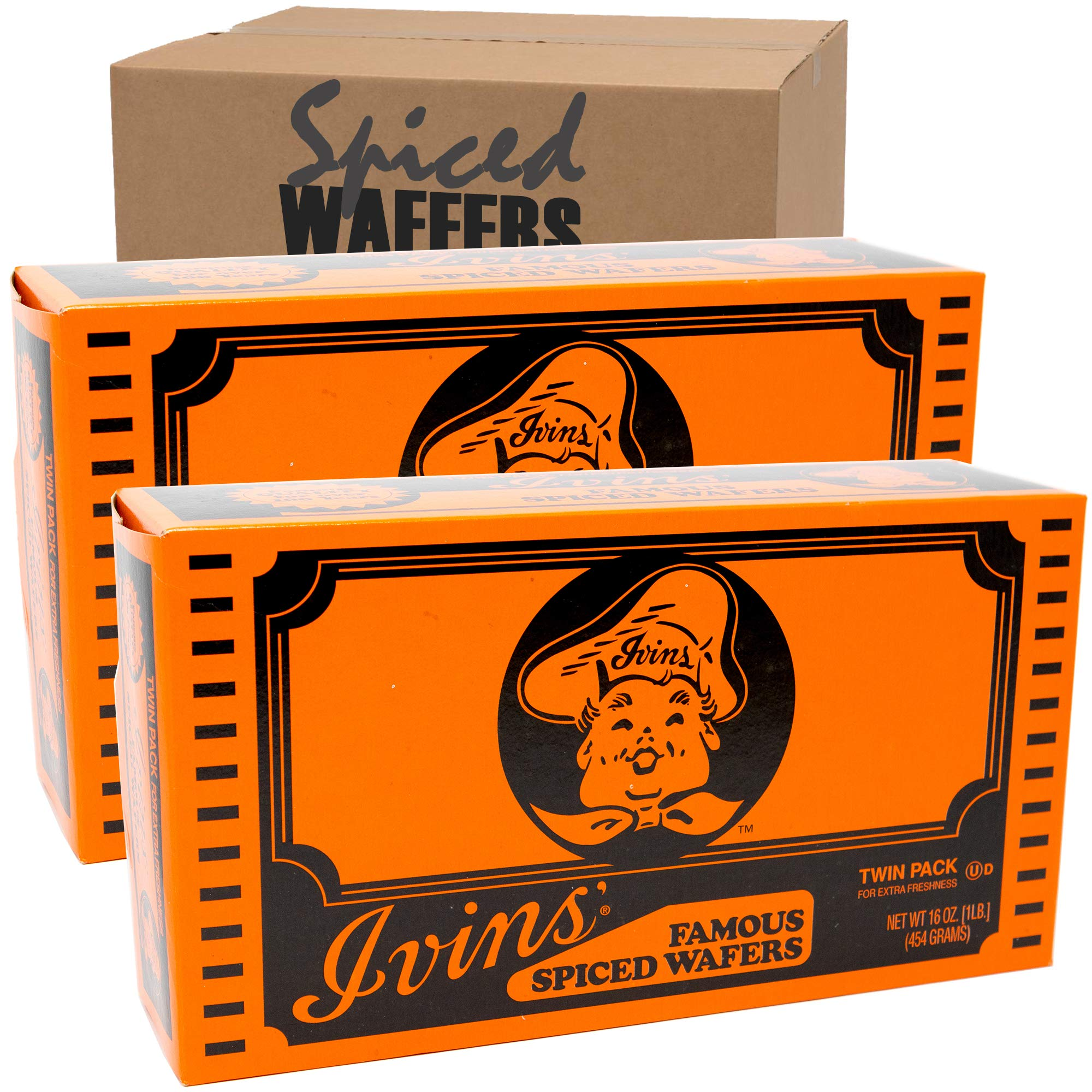 Ivins Famous Spiced Wafers, 2 boxes (16 oz ea.) by
