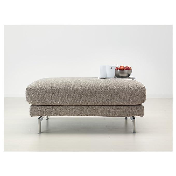 IKEA nockeby – Fußhocker tenö hellgrauverchromt: