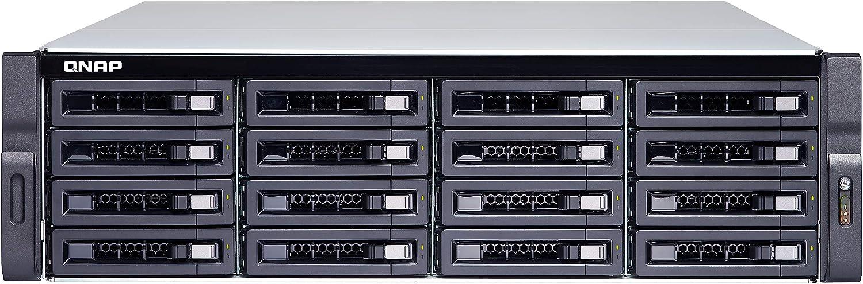 QNAP TS-1677XU-RP Ethernet Bastidor (3U) Negro NAS - Unidad Raid (Unidad de Disco Duro, SSD, Serial ATA III, 2.5,3.5