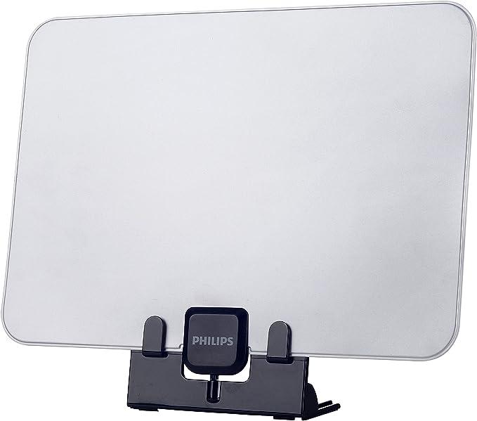 Philips Antena de TV SDV5231/12 - Antena de TV (Negro, Gris, 6 pies, UHF, 340 x 256 x 39 mm, 191 g, 365 x 60 x 320 mm)