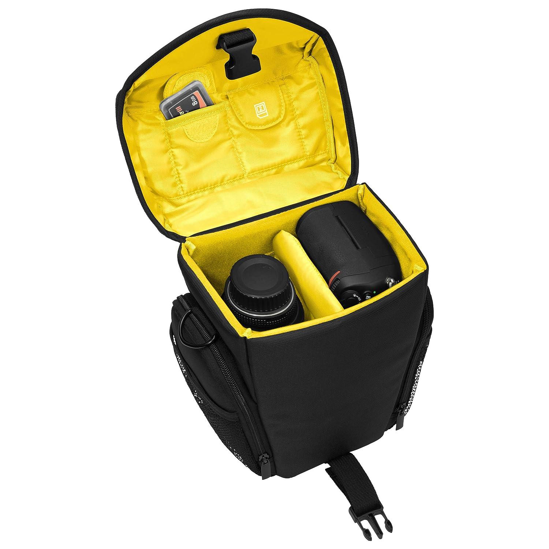 Pedea GmbH set012-65060313-0012 Sacoche avec Housse anti-pluie//Protection d/'/écran  pour Appareil photo SLR Nikon D500//D610D//3300//D3400//D5300//D7100//D7200//Canon EOS 1300D//EOS 5D Mark II Jaune