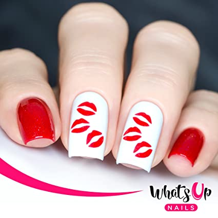 Buy Whats Up Nails Kisses Nail Stencils Stickers Vinyls For Nail