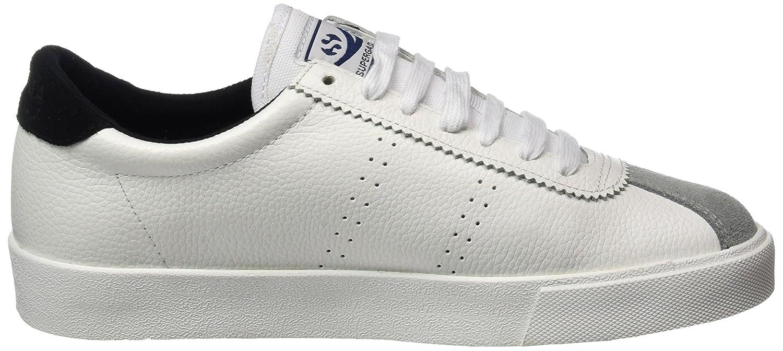Superga 2843 Etumbleleasueu, Zapatillas para Mujer, Blanco (White/Black), 45 EU