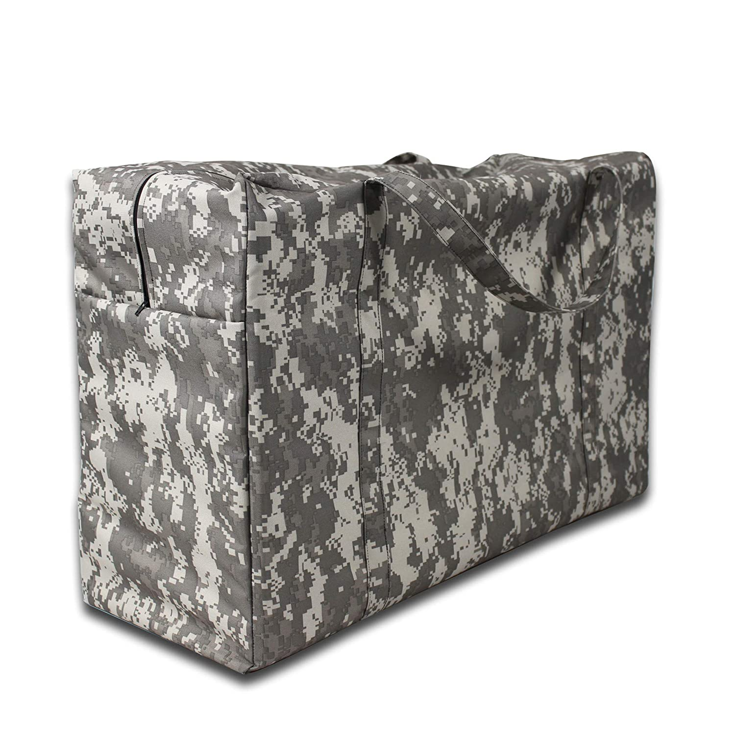 TRUESTAR Patio Cushion Cover Storage Bag Outdoor Water Resistant dust-Proof Non-Woven TPU Patio Rectangular Storage Bag Protective Zippered Patio Furniture Cover with Padded Handles, Camouflage