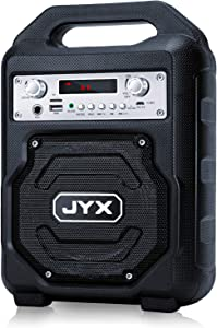 JYX-23 Bluetooth Speaker Portable Wireless Karaoke Machine, Loud Stereo Boombox, Built-in FM Radio,Support REC/AUX in/USB/TF Card, Perfect for Home/Outdoor Party/Travel