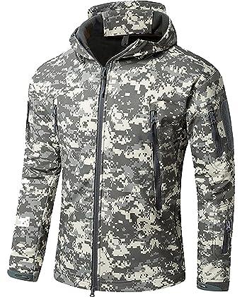 02cb97782d Impermeable Militar táctica Lucha contra la Chaqueta de Softshell Camping  al Aire Libre Caminar Camuflaje Hoodie Coat: Amazon.es: Deportes y aire  libre