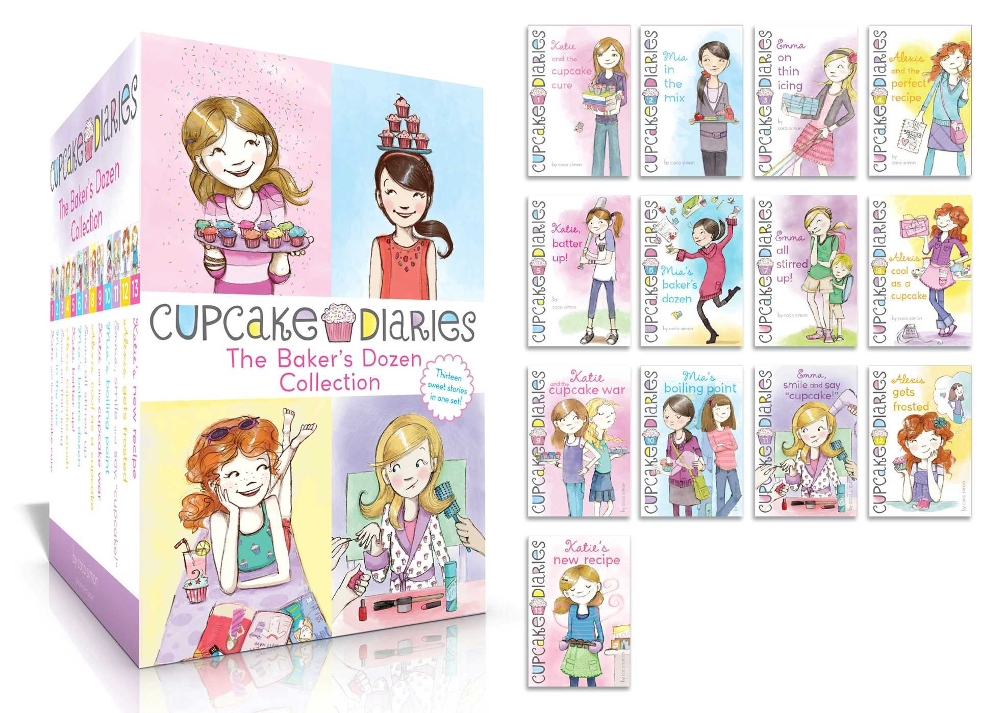 The Baker's Dozen Collection: Katie and the Cupcake Cure; Mia in the Mix; Emma on Thin Icing; Alexis and the Perfect Recipe; Katie, Batter Up!; Mia's ... Mia's Boiling Point; etc. (Cupcake Diaries) by SIMON SPOTLIGHT (Image #2)