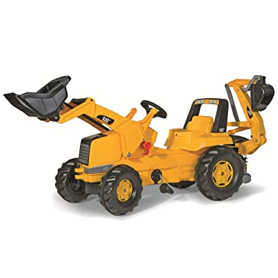 rolly toys CAT Construction Pedal Tractor: Backhoe Loader (Front Loader and Excavator/Digger), Youth Ages 3+: Toys & Games