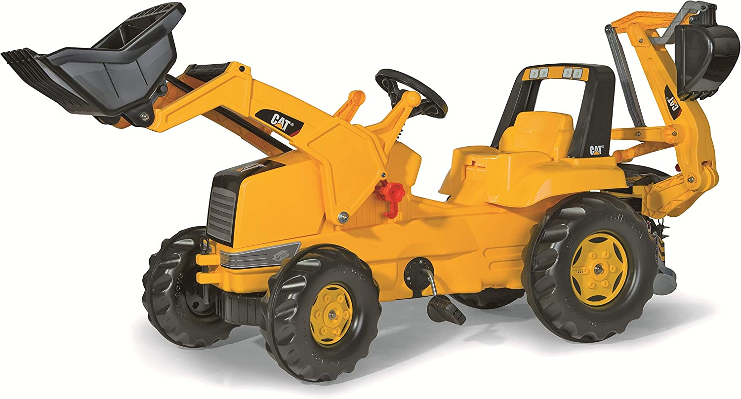 B0007ZCIUI rolly toys CAT Construction Pedal Tractor: Backhoe Loader (Front Loader and Excavator/Digger), Youth Ages 3+ 81VMGWCoKpL.SL1500_
