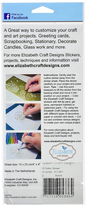 Amazon Com Elizabeth Craft Designs Flower Poppy Peel Off Stickers 4