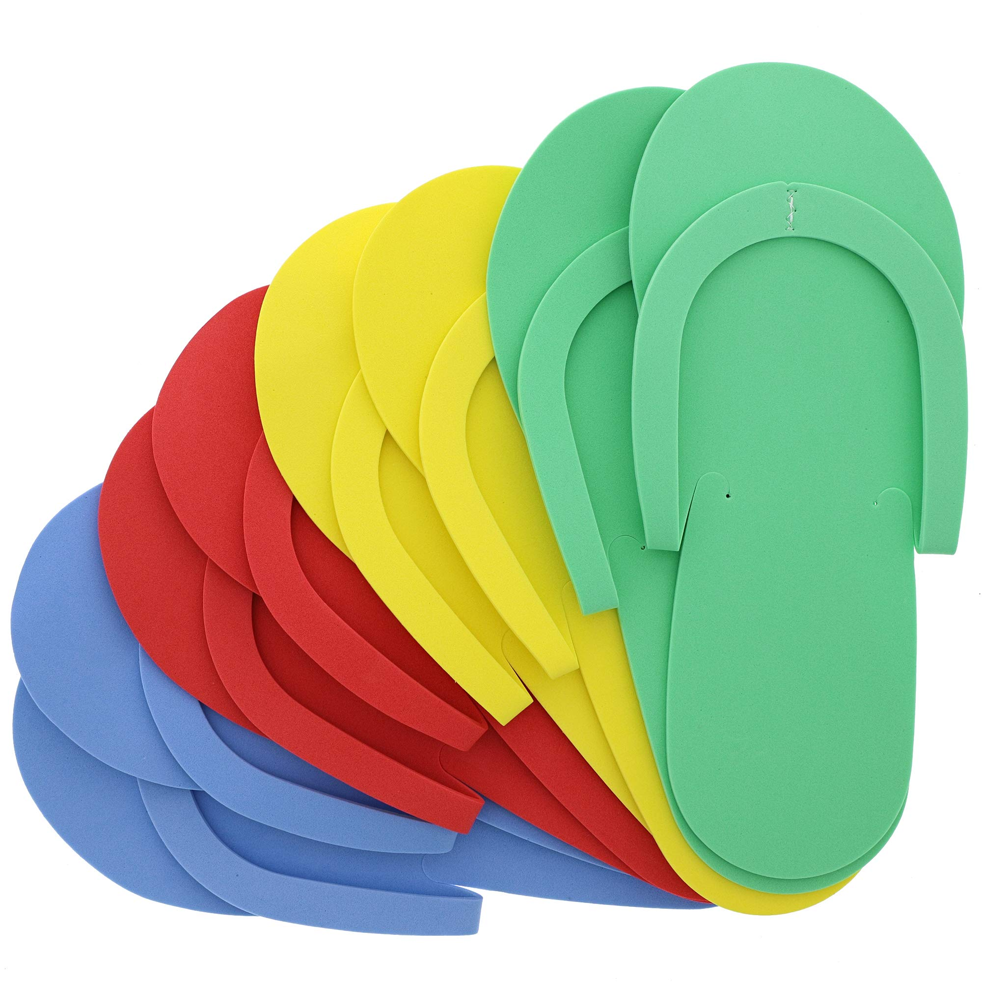 Juvale Pedicure Slippers, Disposable Flip Flops (48 Pairs), 4 Colors, One Size by Juvale