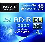 SONY ビデオ用BD-R 追記型 片面2層50GB 4倍速 ホワイトプリンタブル 10枚パック 10BNR2VGPS4