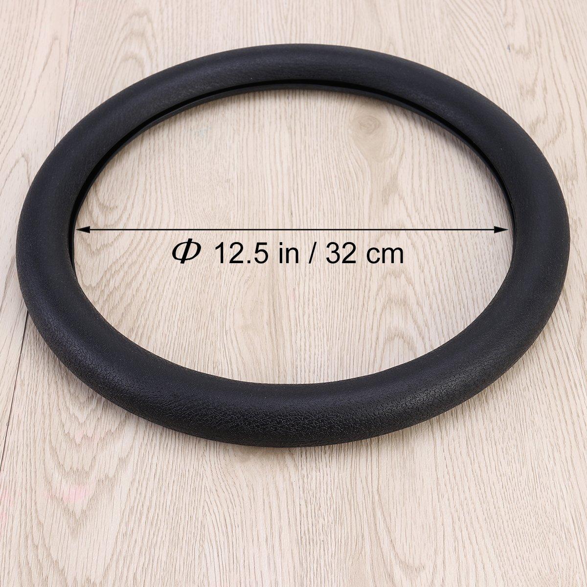 en silicona antideslizante negro VORCOOL Funda de volante de coche de 32 cm