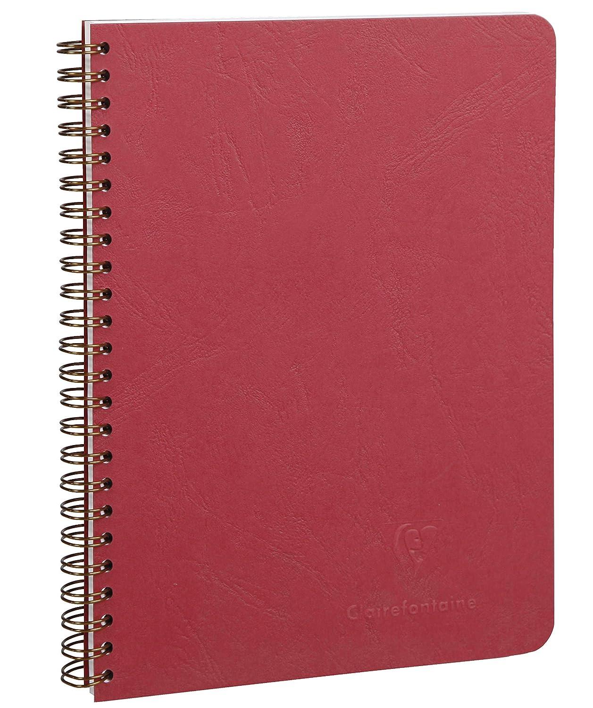 Age Bag liniert, 16 x 21 cm, 80 Blatt 1 St/ück rot Clairefontaine 785762C Spiralbuch