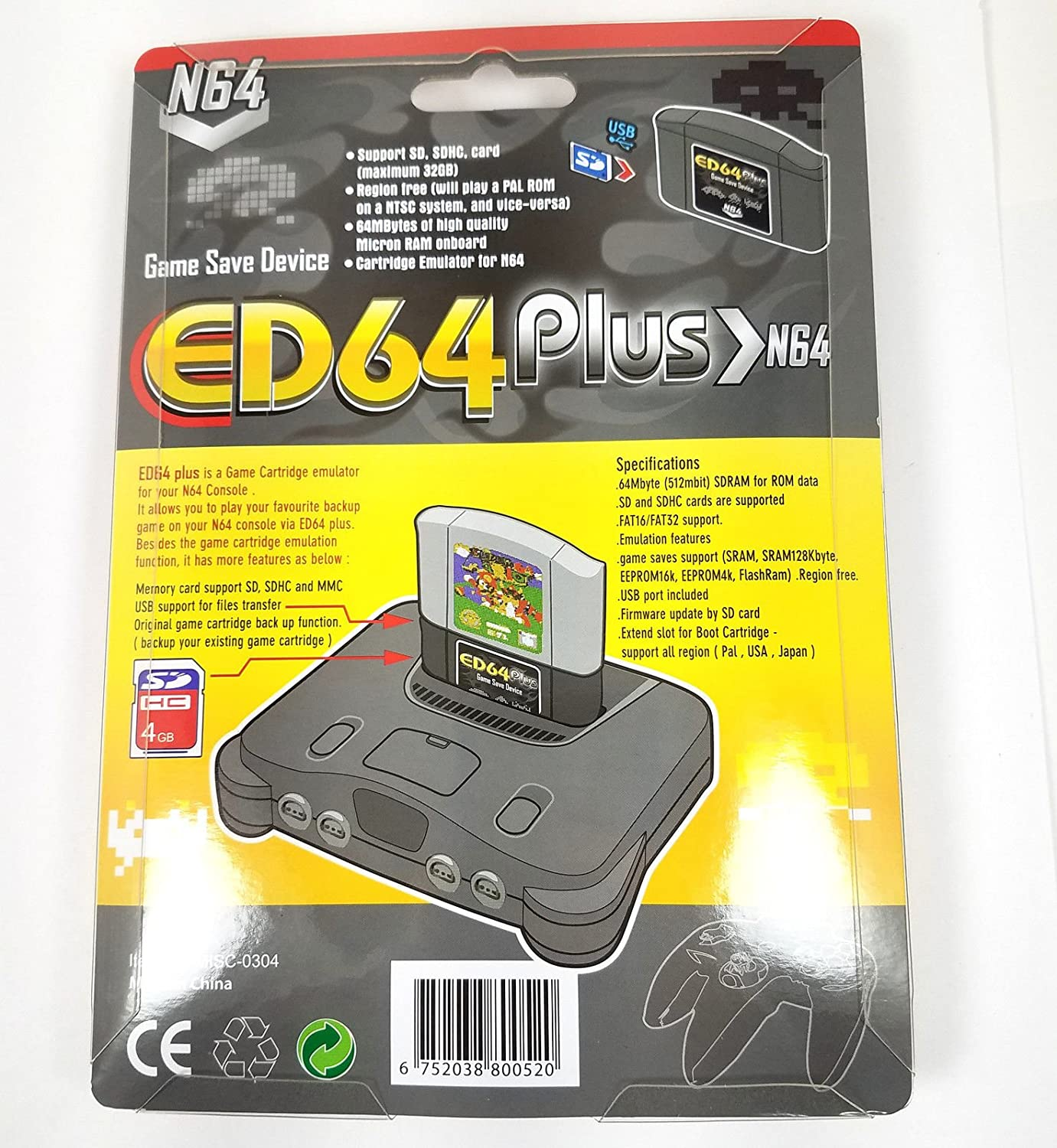 Amazon com: ED64 Plus Game Save Drive: Computers & Accessories