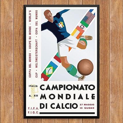 Fridgedoor Vintage Italian Soccer Poster 12 X 18 Print